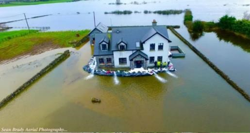 picture of flooded house