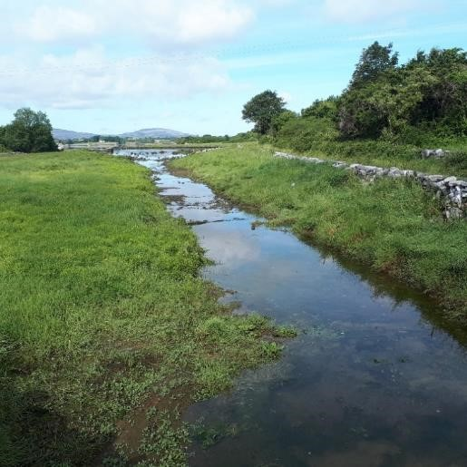 Existing channel in Kinvara Bay