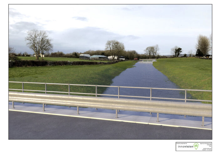 Blackrock Channel Overflow at Skehanagh (With Scheme in place [wet])